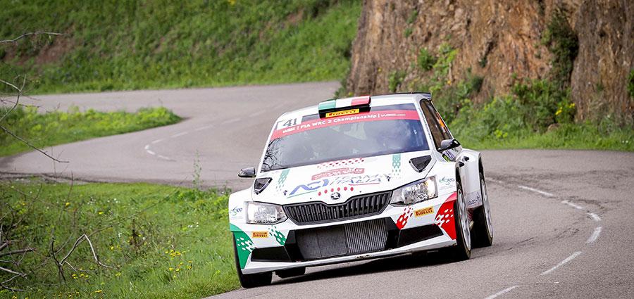Undicesimi assoluti e terzi della WRC2 è il bottino di Fabio Andolfi e Simone Scattolin con la Skoda Fabia R5 (Foto Stefano Romeo)
