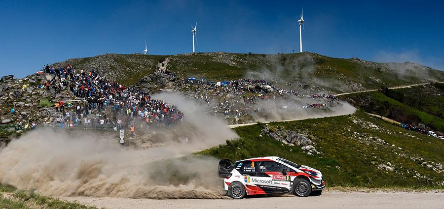 Concludono la corsa al quinto posto Esapekka Lappi e Janne Ferm con la Toyota Yaris WRC