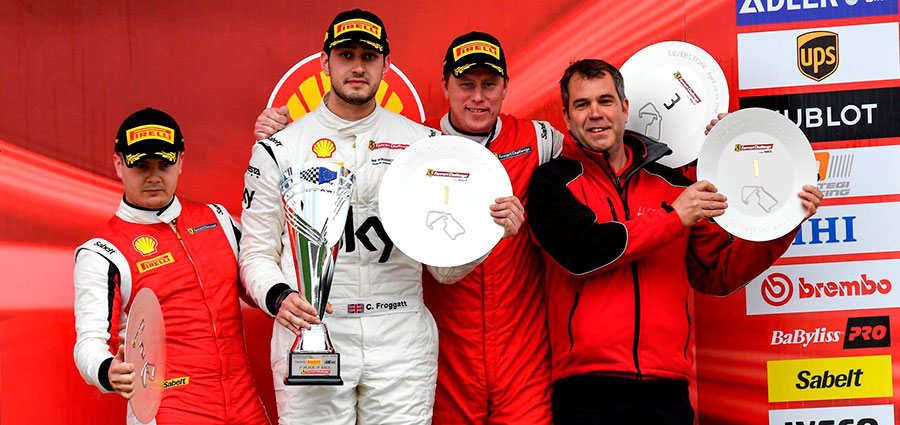 Podio di gara 1 Pro-Am del Trofeo Pirelli