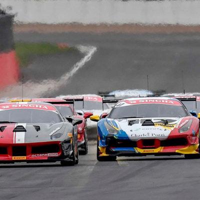 Ferrari Challenge Europa, successo sotto la pioggia di Silverstone