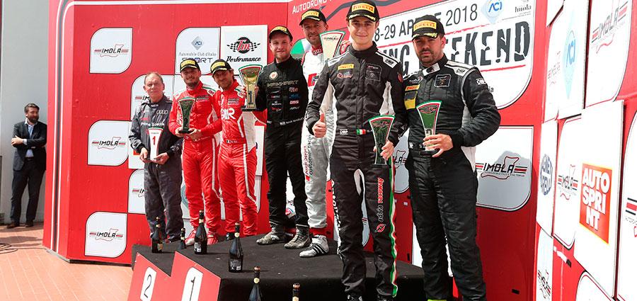 Il podio dell'assoluta di gara 2