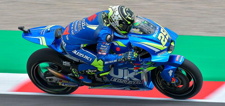 Bel quarto posto di Andrea Iannone con la Suzuki (Foto Cavalleri-Betti)