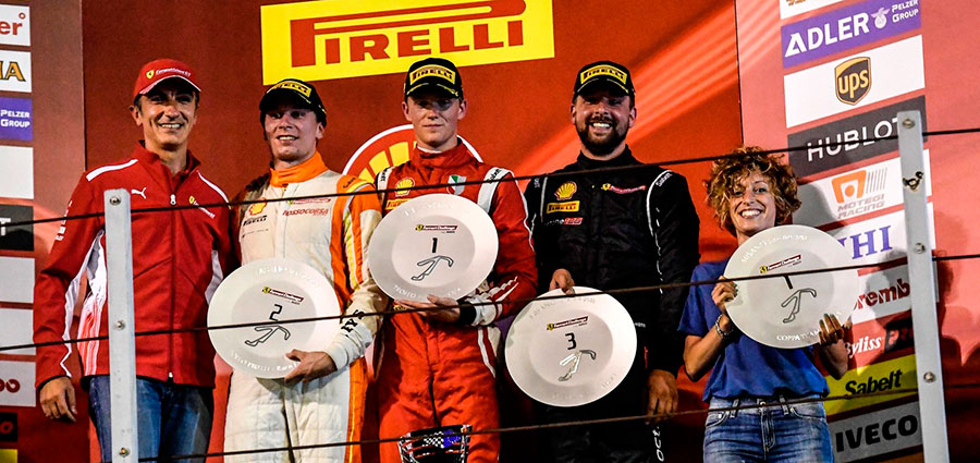 Podio di gara 1 del Trofeo Pirelli