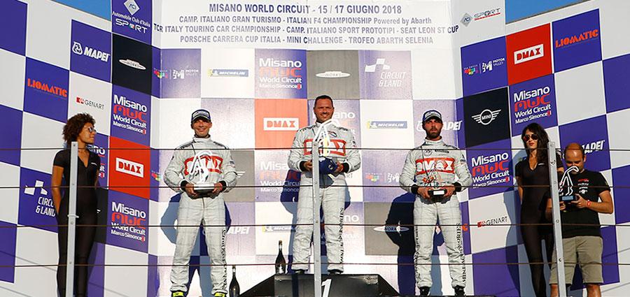 Podio di gara 1 del Mini Challenge Italia a Misano