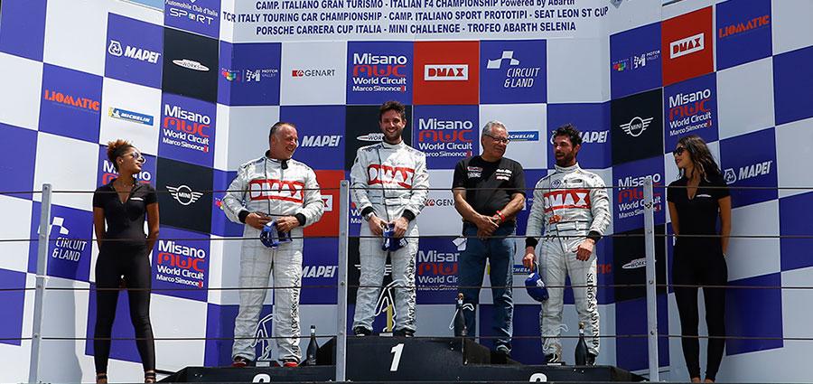 Il podio di gara 2 Mini Challenge Italia a Misano