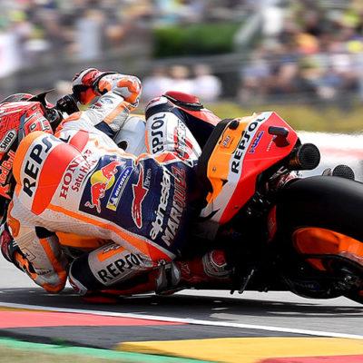 MotoGP, al Sachsenring Marquez allunga Rossi insegue