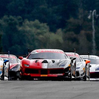 Ferrari Challenge Europa, a Brno emozioni sotto la pioggia