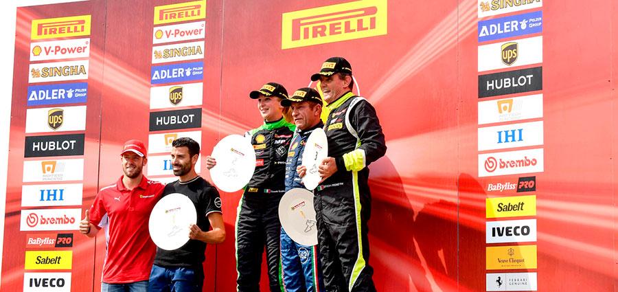 Podio di gara 1 della Coppa Shell
