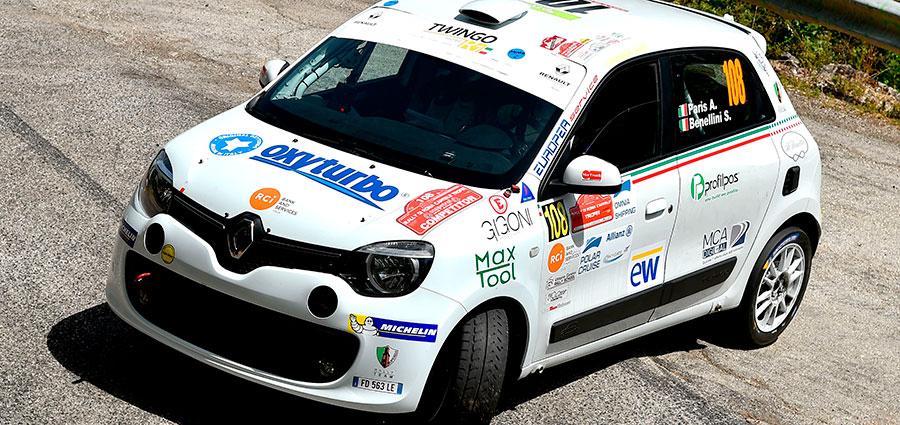 Nel Trofeo Twingo vittoria di gara e titolo per Alberto Paris