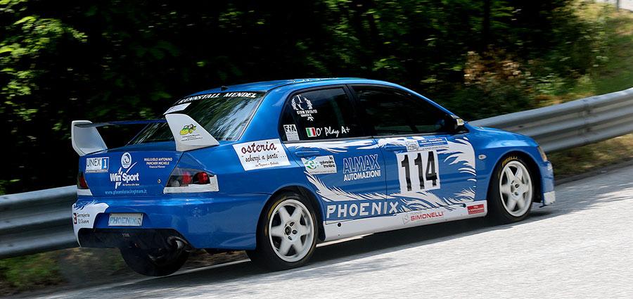 Nel Gruppo N domina Antonino Migliuolo con la Mitsubishi Lancer (Foto Claudio Ricciotti)