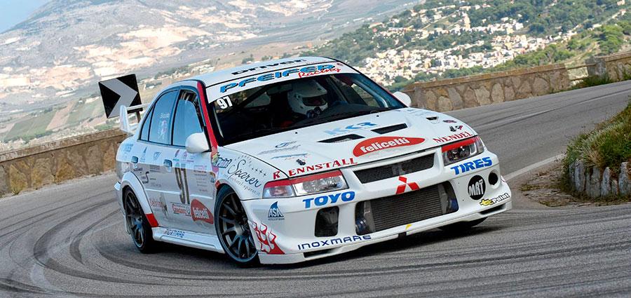 Rudi Bicciato con la Mitsubishi Lancer vince il Gruppo A ed intasca il titolo italiano con due prove d'anticipo