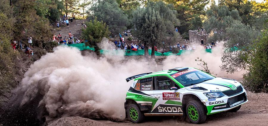 Nelle WRC2 il massimo punteggio lo intascano Jan Kopecky e Pavel Dresler con al Skoda Fabia R5