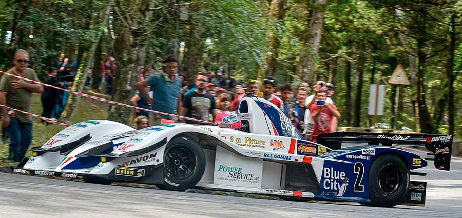 Il neo-campione Europeo Christian Merli con la Osella FA 30 LRM Zytek si aggiudica la Monte Erice