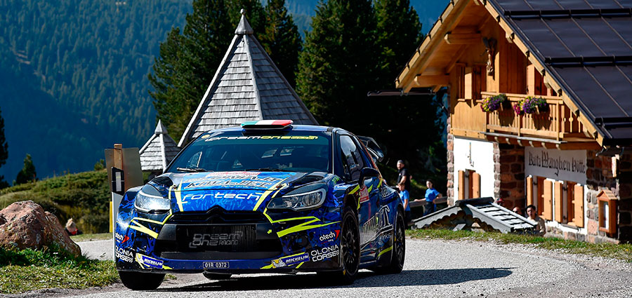 Simone Miele è quarto con la Citroen DS3 della Top Rally