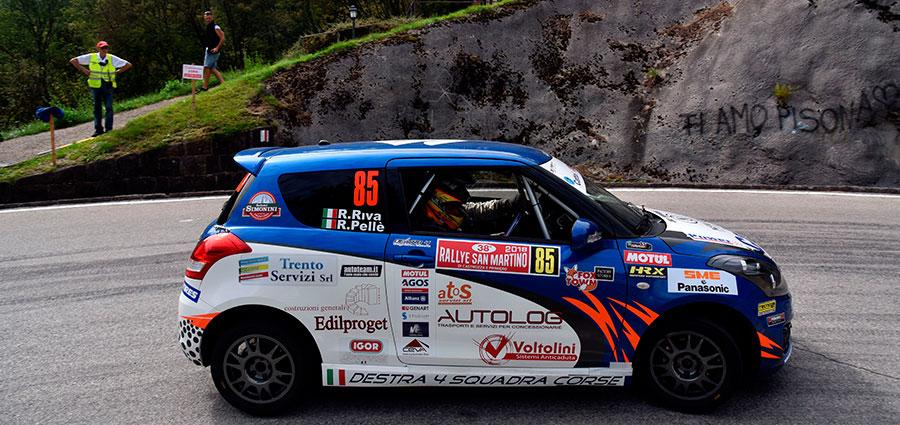 Roberto Pellè è primo nel Trofeo Suzuki con la Swift Sport VTT