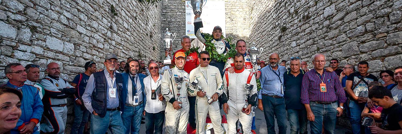Il podio finale del Rallye San Martino di Castrozza