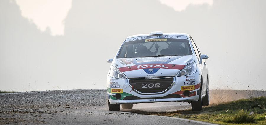 Successo per Damiano De Tommaso con la Peugeot 208 R2B tra le vetture Due Ruote Motrici