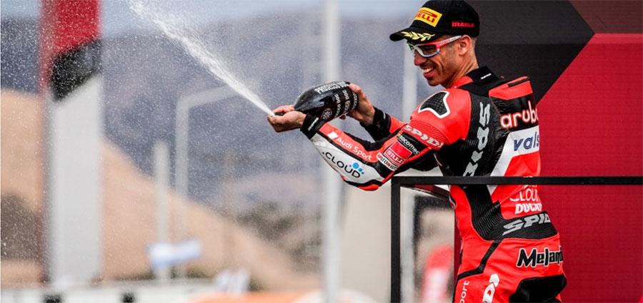 Un ottimo Marco Melandri intasca un buon secondo posto in gara 1