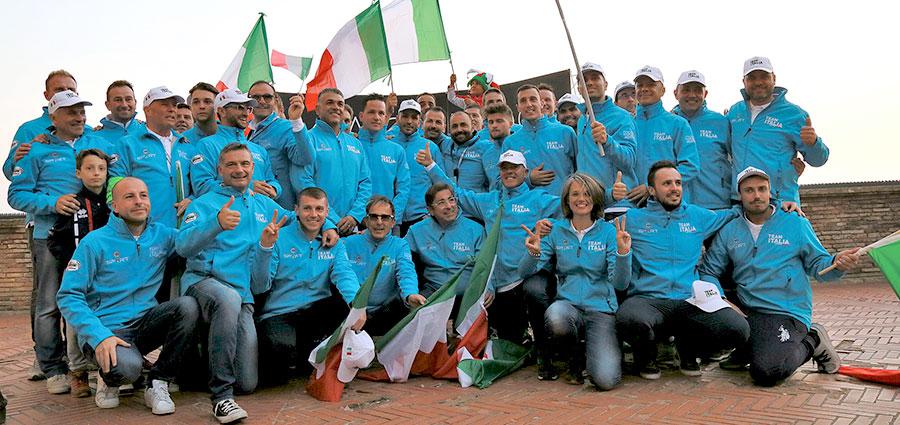 Il Team Italia (Foto Claudio Ricciotti)