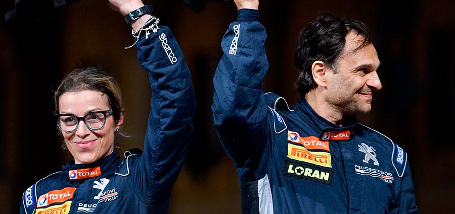 Esultano Paolo Andreucci ed Anna Andreussi per la conquista di un sofferto titolo Tricolore