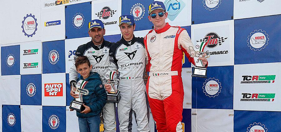 Il podio DSG di gara 2 del TCR Italy Touring Car Championship
