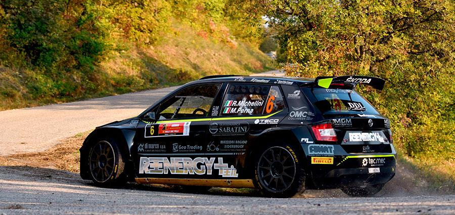Rudy Michelini con la Skoda Fabia R5 chiude al sesto posto