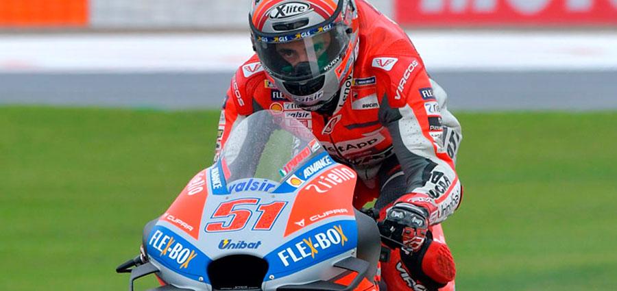 Michele Pirro si piazza quarto con la Ducati (Foto Cavalleri-Betti)