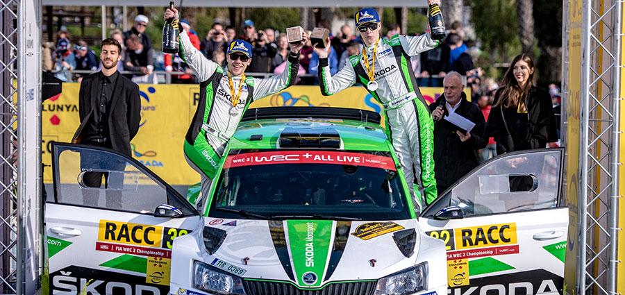 Il finlandese Kalle Rovanpera con la Skoda Fabia R5 vince nella WRC2