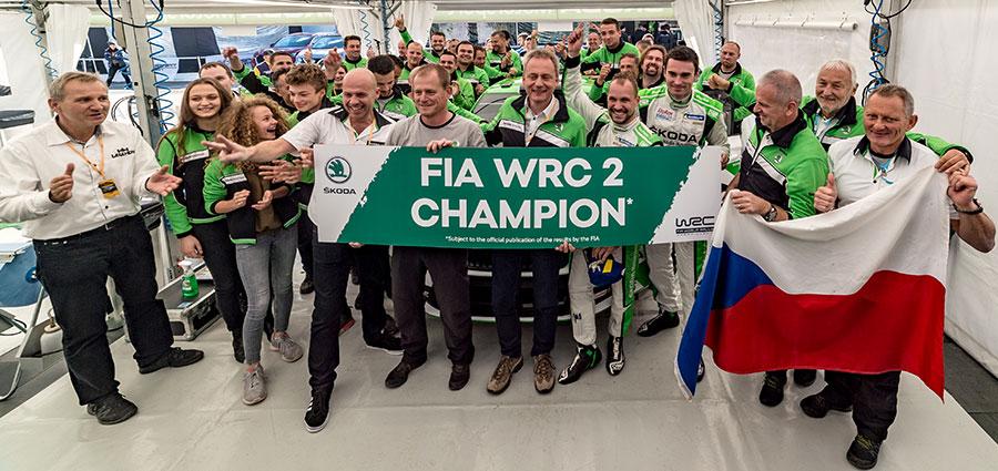 Festa in casa Skoda per il titolo WRC2 con Jan Kopecky