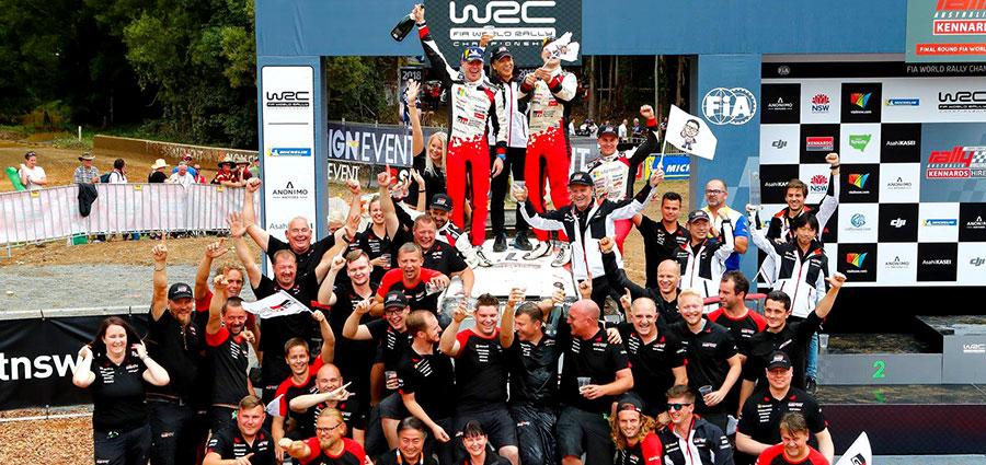 La vittoria di Jari-Matti Latvala con la Toyota Yaris Wrc regala il titolo Costruttori, dopo 19 anni, alla Toyota.