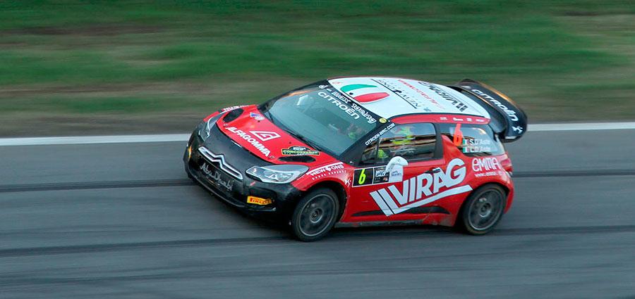 Stefano D'Aste con la Citroen DS3 Wrc completa la gara all'ottavo posto (Monza Eni Circuit/Beretta)