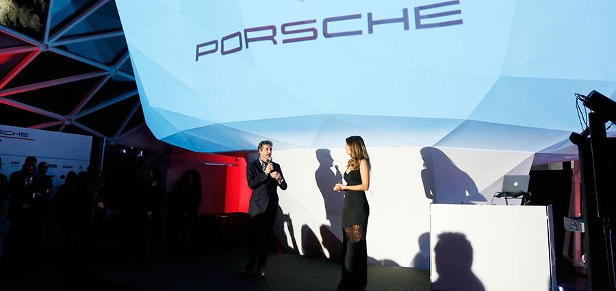 Il pilota e famoso attore Patrick Dempsey ospite della serata di gala della Porsche Carrera Cup Italia