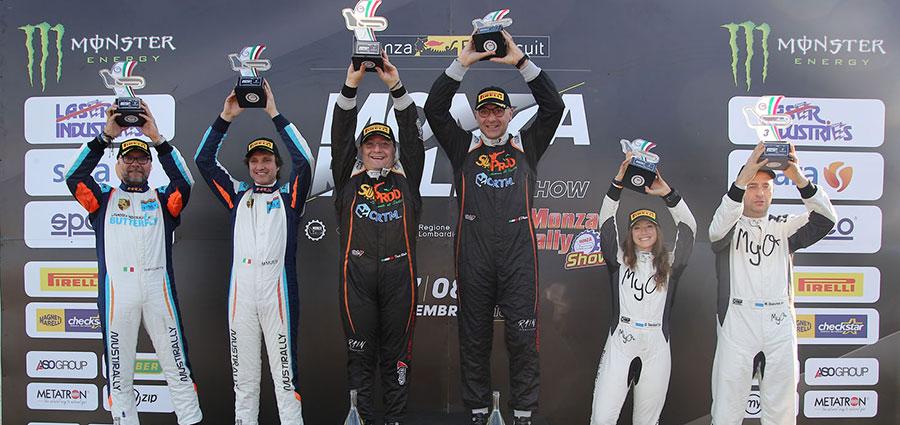 Il podio delle Storiche (Monza Eni Circuit/Bettiol)
