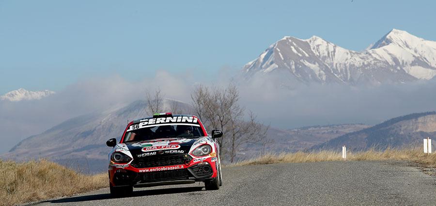 In RGT Cup la firma è di Enrico Brazzoli con l'Abarth 124 Rally