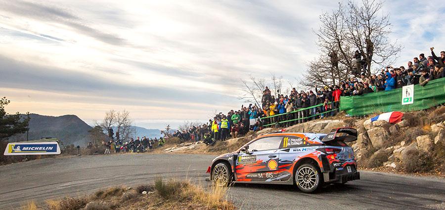 al Rally Monte-Carlo Thierry Neuville e Nicolas Gilsoul con la Hyundai i20 Coupé WRC conquistano la piazza d'onore