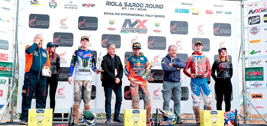 Il podio della MX1