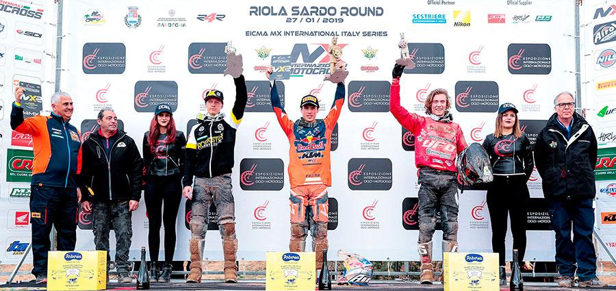 Il podio della MX2