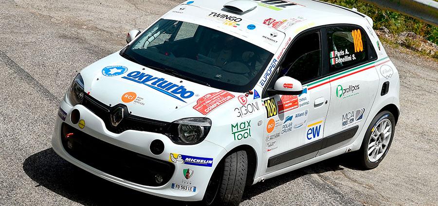 Alberto Paris e Sonia Benellini si sono distinti nel Twingo R1 Top
