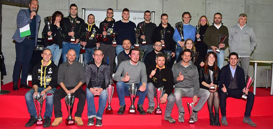 Tutti i premiati dei Trofei Renault Rally edizione 2018