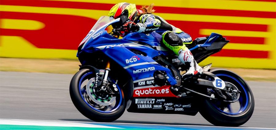 Quindicesimo posto per l'iberica Maria Herrera con la Yamaha YZF R6 di MS Racing