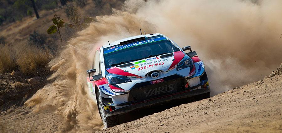 Ott Tanak con la Toyota Yaris WRC incamera un'ottima piazza d'onore