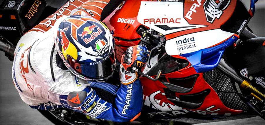 Jack Miller, con la Ducati della Pramac Racing si piazza ai piedi del podio