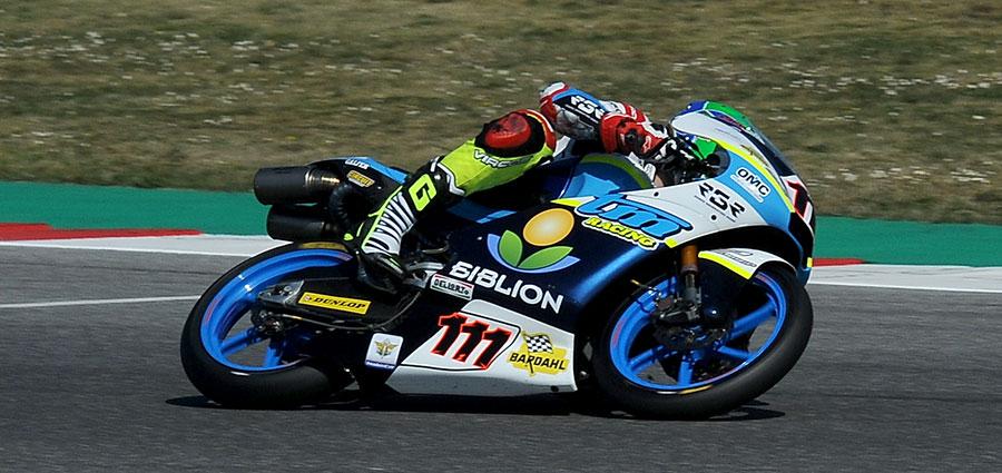 Kevin Zannoni (TM) conquista la vittoria nella prima gara Moto3 (Foto Giovanni Vanacore)