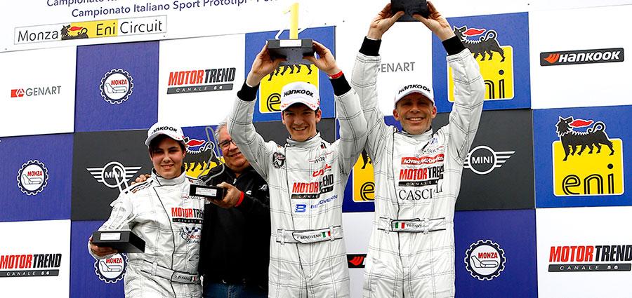 Il podio della Lite di gara 2 con Filippo Bencivenni, Diego Di Fabio e Andrea Tronconi