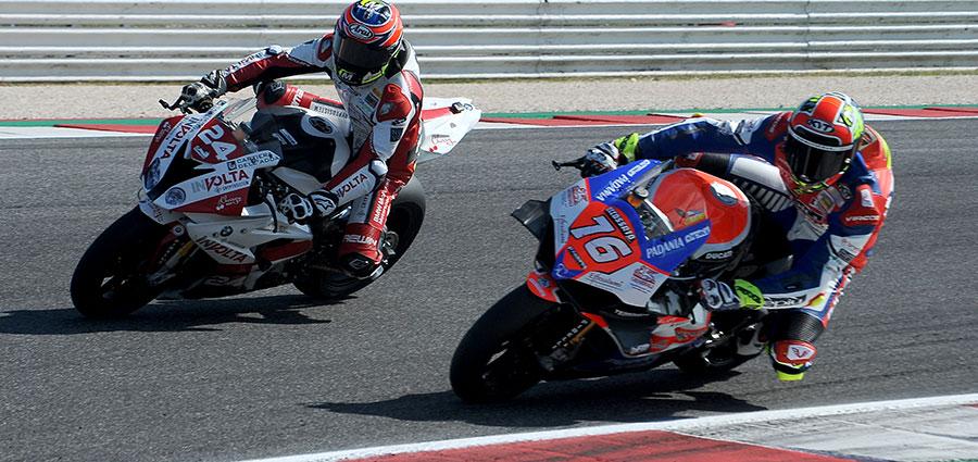 Samuele Cavalieri e Roberto Tamburini si dividono le restanti posizioni del podio in SBK (Foto Giovanni Vanacore)