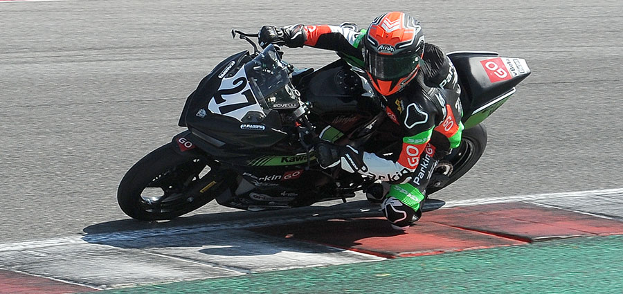 Filippo Rovelli conquista la vittoria in Supersport 300 (Foto Giovanni Vanacore)