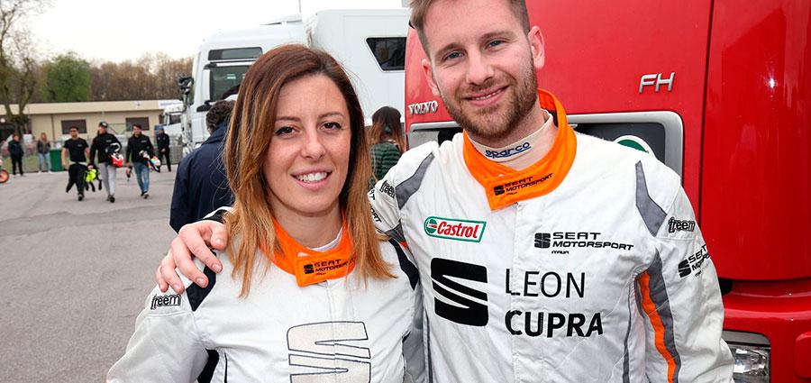 Carlotta Fedeli e Cosimo Barberini con la Cupra TCR completano il podio della prima gara del TCR Endurance