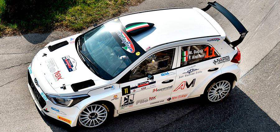 Matteo Daprà e Fabio Andrian con la Hyundai i20 R5 chiudono in quinta posizione