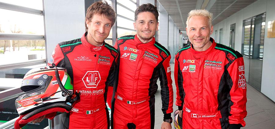 Il trio d'eccezione di Baldini 27 composto da Gai Fisichella e Villeneuve esce sconfitto dal primo confronto del GT Endurance a Monza a causa di una noia elettrica dopo essere stato lungamente al comando