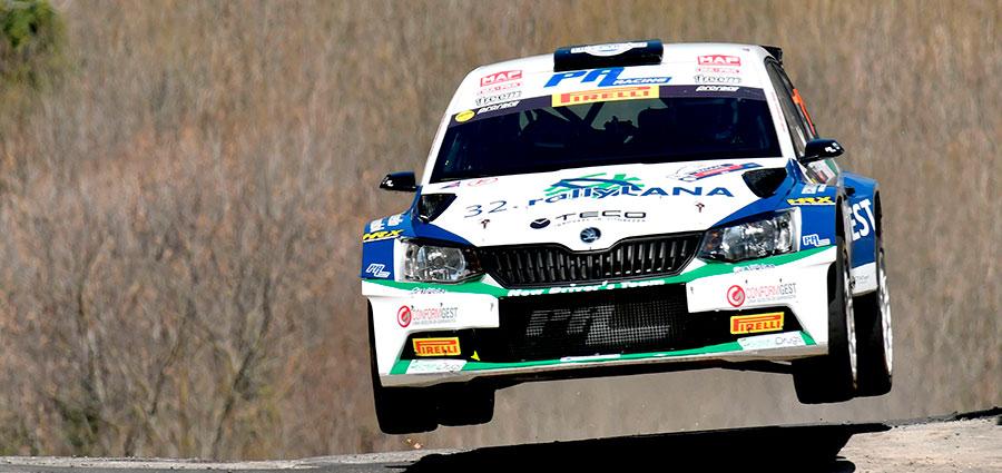 Quarto posto assoluto per Corrado Pinzano e Marco Zegna con la Skoda Fabia